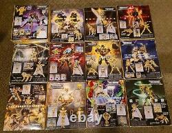 Full set of 12 Bandai Gold Saint Myth Cloth from Saint Seiya