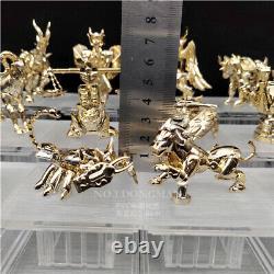 Gold Saint Seiya Myth Cloth Myth Statue Acrylic Stand PVC Figure Toy Decoration