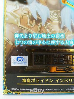 SAINT SEIYA BANDAI JAPAN Myth Cloth EX POSEIDON Imperial Throne Set Sloan SEALED