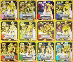 Saint Seiya Bandai 100% Authentic 12 Gold Myth Cloth Complete Set Japan MISB