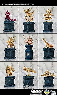 Saint Seiya Myth Cloth 9 Poseidon Armures Electroplated Ver. Set + 9 Bases