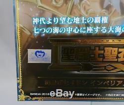 Saint Seiya Myth Cloth EX Sea Emperor Poseidon Imperial Throne Set Bandai NEW