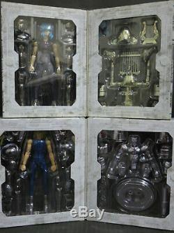 Saint Seiya Myth Cloth Silver Saint Perseus, Eagle, Chameleon. 6 figures set